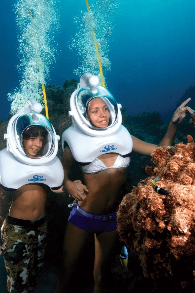 sea trek lanzarote diving