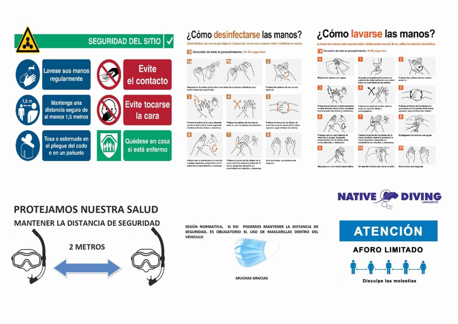 Protocolo Covid Centro de buceo